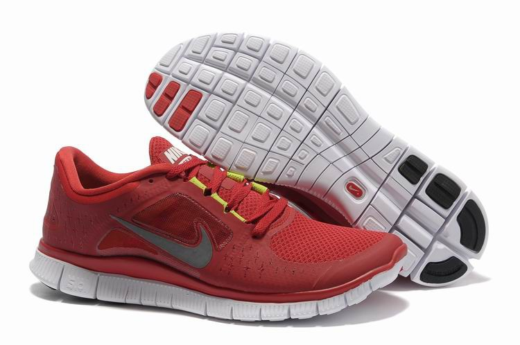 Hommes Nike Free Run 3 Gym Red Chaussure