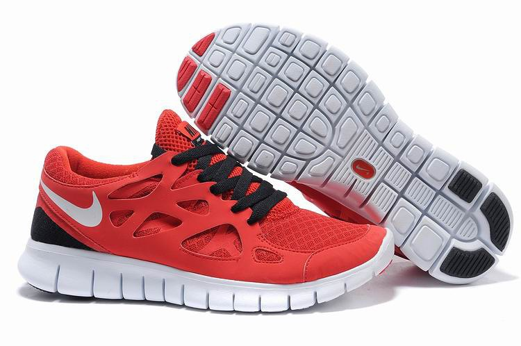 Nike Free Run 2.0 Hommes Chaussures Rouge Noir