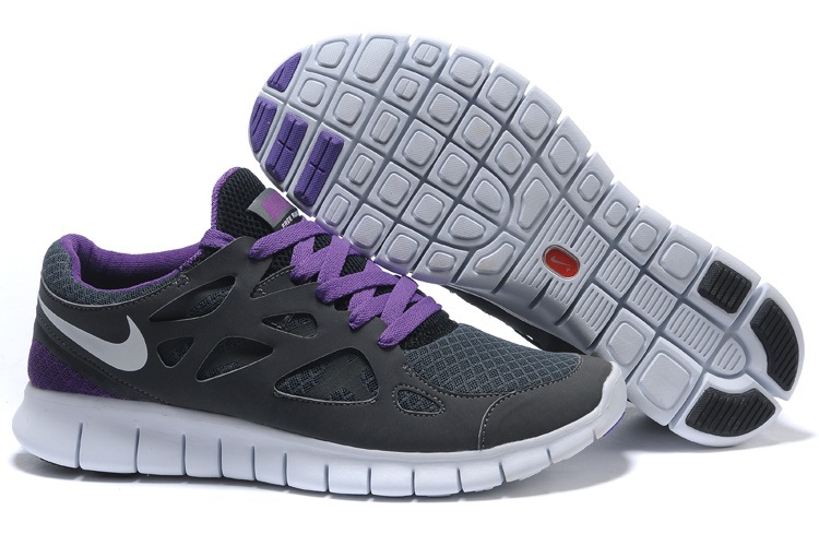 Nike Free Run 2.0 Femmes Carbon gray Violet
