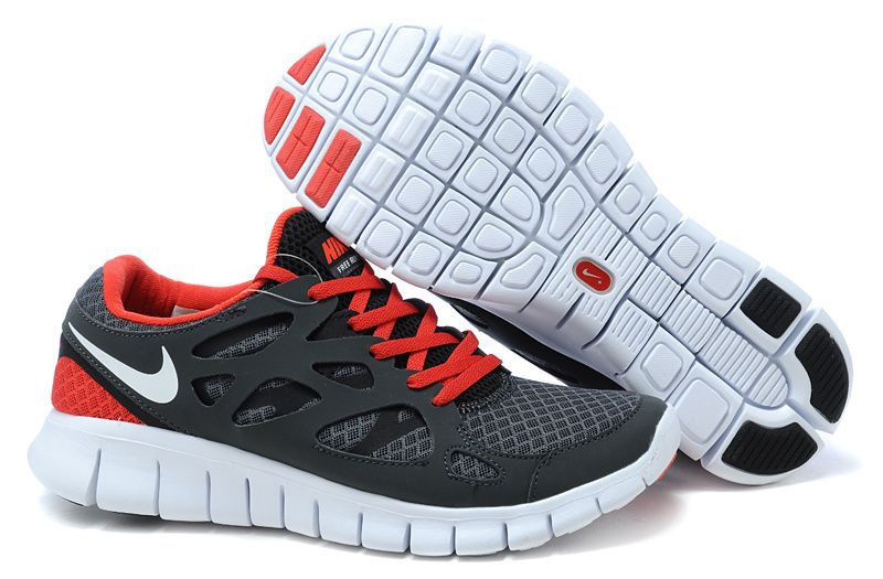 Nike Free Run 2.0 Femmes gray carbone Red Chaussure