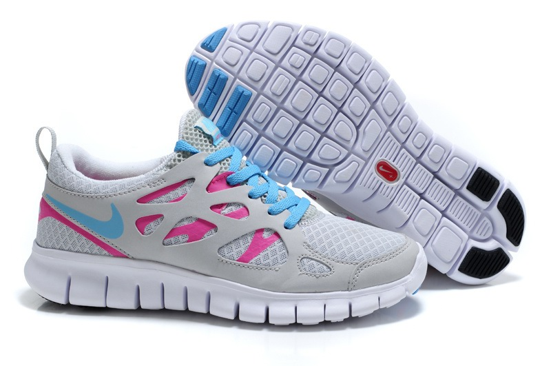Nike Free Run 2.0 Femmes Poire blanc Light gray Bleu