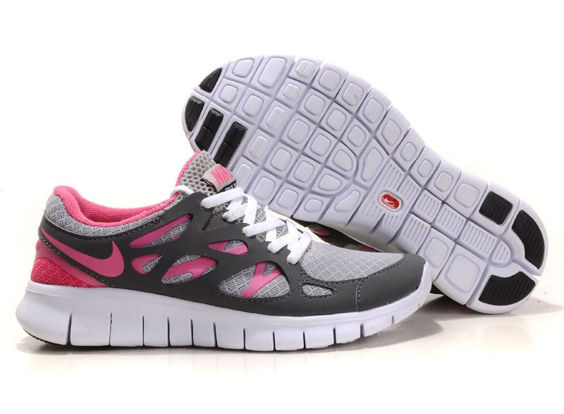 Nike Free Run 2.0 Femmes blanc gray rose