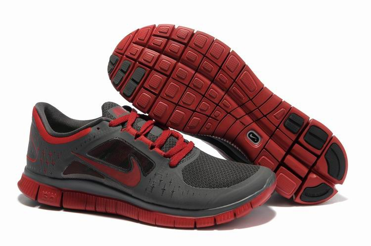 Nike Free Run 3 Chaussures Hommes gray Rouge Profond