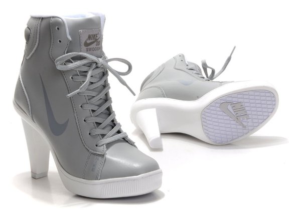 Nike 2012 Heels Dunk High Femme Chaussure Ankle Boots Cool Grey pas cher