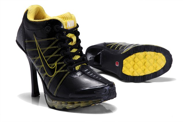 Nike Air Max 2012 Heels Chaussure Noir Yellow Sexy Charming