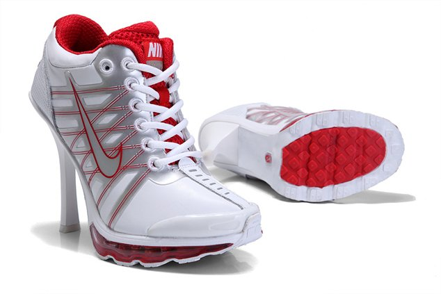 Nike Air Max 2012 Heels Chaussure blanc Red en ligne Outlet