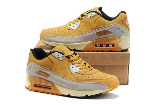 Nike Air Max 90 Homme Chaussure Yellow grey