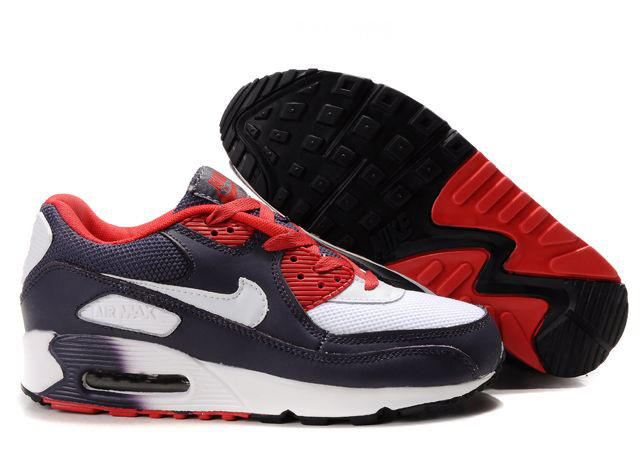Nike Air Max 90 Femme Chaussure Gros Red blanc Brown