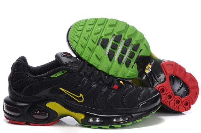 Nike Air Max TN I Homme Chaussure Noir yellow red green