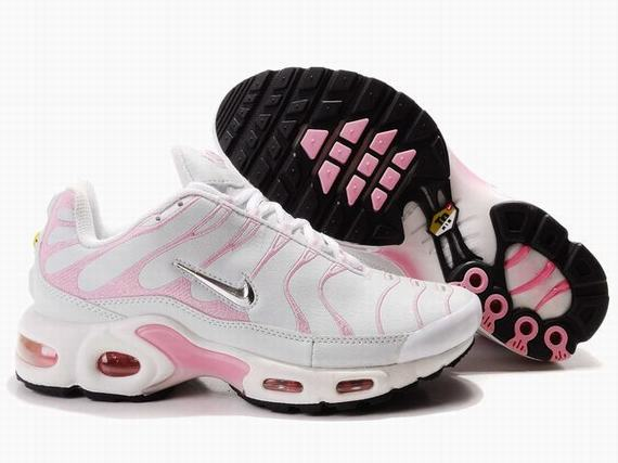 Nike Air Max TN Femme Chaussure blanc light red
