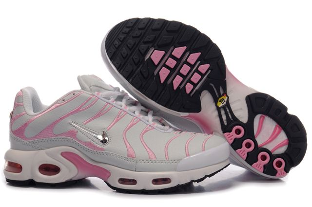 Nike Air Max TN Femme Chaussure greyishblanc light red