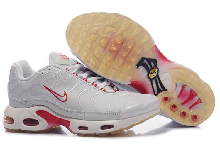 Nike Air Max TN Femme Chaussure silver blanc red