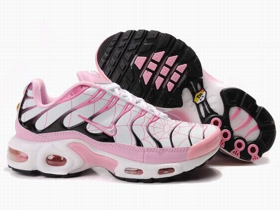 Nike Air Max TN Femme Chaussure blanc light red Noir
