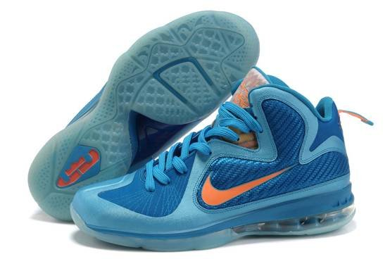 Nike Zoom Lebron James Solider 9 IX Air Bottom Bleu Orange Gros