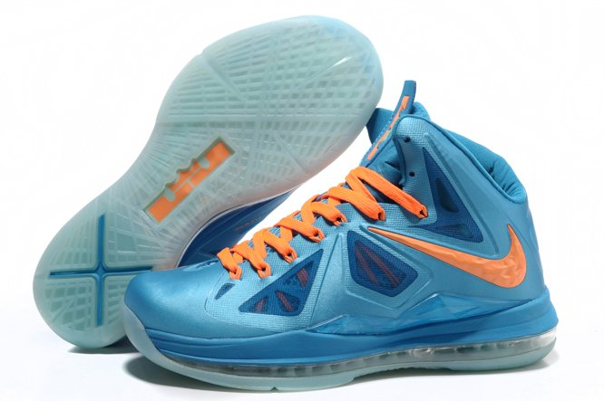 Nike Zoom Lebron X 10 Homme Chaussure Discout Bleu Yellow