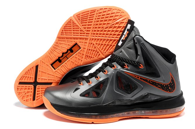Nike Zoom Lebron X 10 Homme Chaussure Fashion Grey Orange