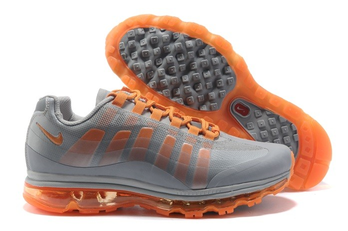 en ligne Sale Nike Air Max 95 360 Homme Cushioning Running Chaussure Grey Orange