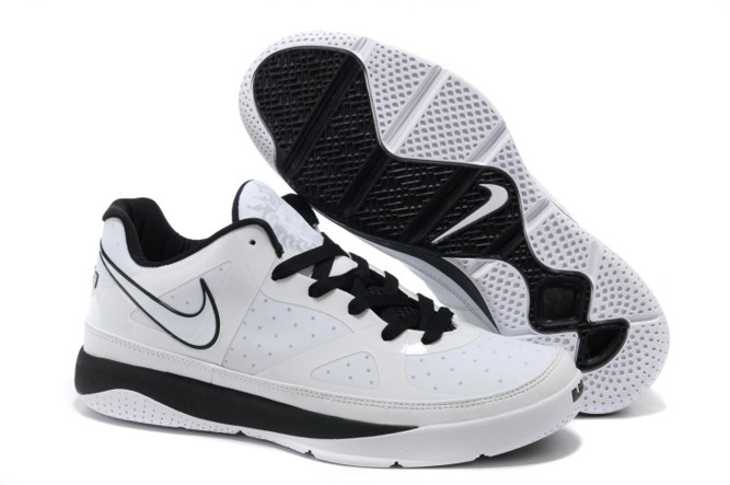 Outlet 2013 Nike Zoom Lebron ST LOW II Homme Chaussure blanc Noir