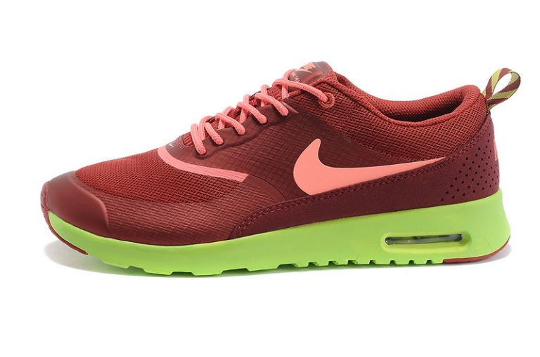 Nike Air Max Chaussures britanniques Thea hommes Bourgogne Coral