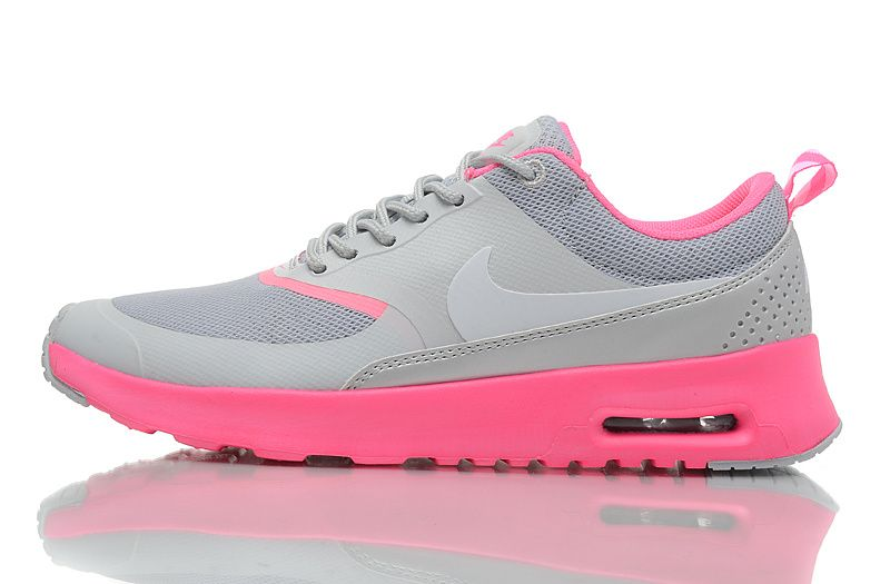 Nike Air Max Thea formateurs Cool Femmes Gris / Rose