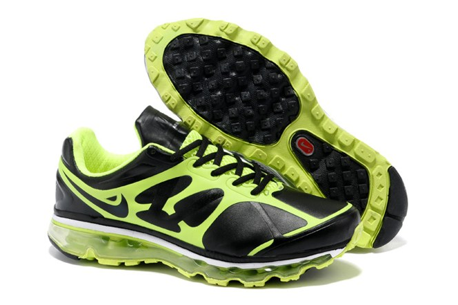 To Buy Air Max 2012 Homme Chaussure Leather Outlet Noir Green