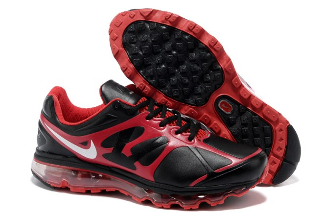 To Buy Air Max 2012 Homme Chaussure Leather Outlet Noir Red