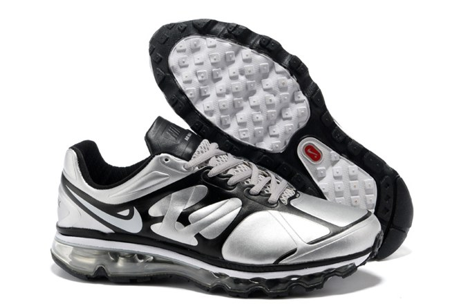 To Buy Air Max 2012 Homme Chaussure Leather Outlet Sliver Noir
