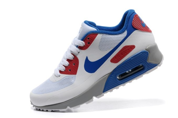 To Buy Air Max 90 Hyperfuse Prm Homme Chaussure Shopping en ligne blanc  Bleu Red