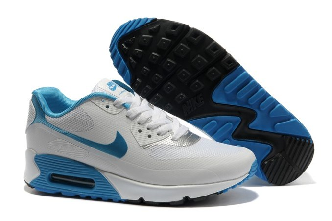 To Buy Air Max 90 Hyperfuse Prm Femme Chaussure For Sale blanc Bleu Noir