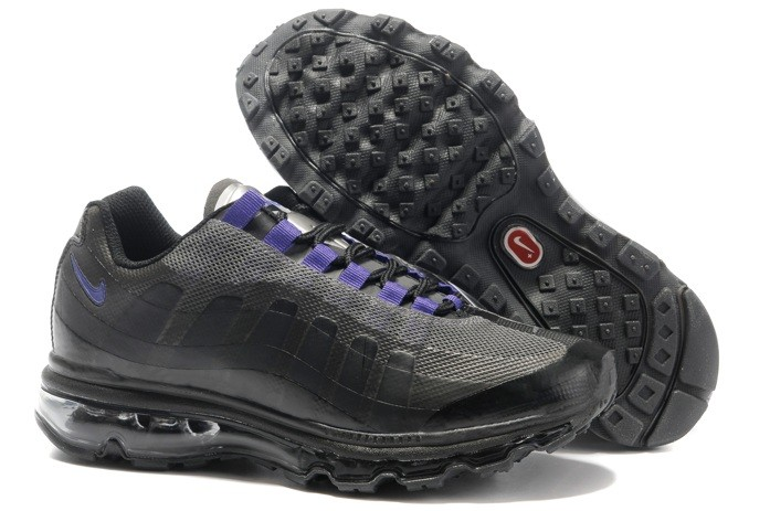 To Buy Free Shipping Air Max 95 360 Homme Chaussure Noir Purple