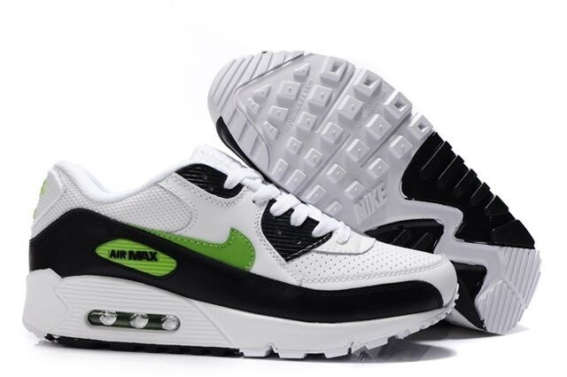 To Buy Hot Sale Nike Air Max 90 Men Chaussure Noir blanc Green