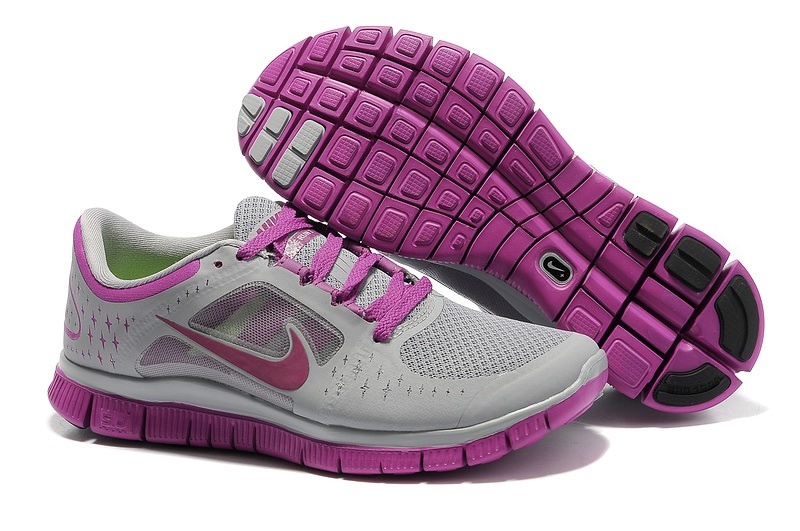 Femmes Nike Free Run 3 gray Chaussures Violet