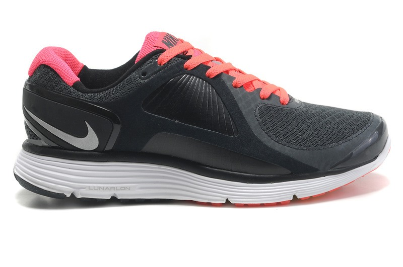 Femmes Nike Lunar Glide 4 Chaussures Charcoal rose