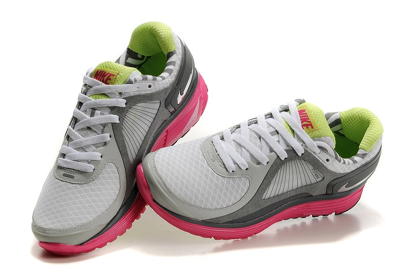 Femmes Nike Lunar Glide 4 Chaussures gray Rose
