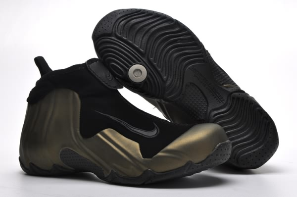 Femmes Nike Flight Systems Foamposite Technologie Chaussures Basketball Brown/Noir